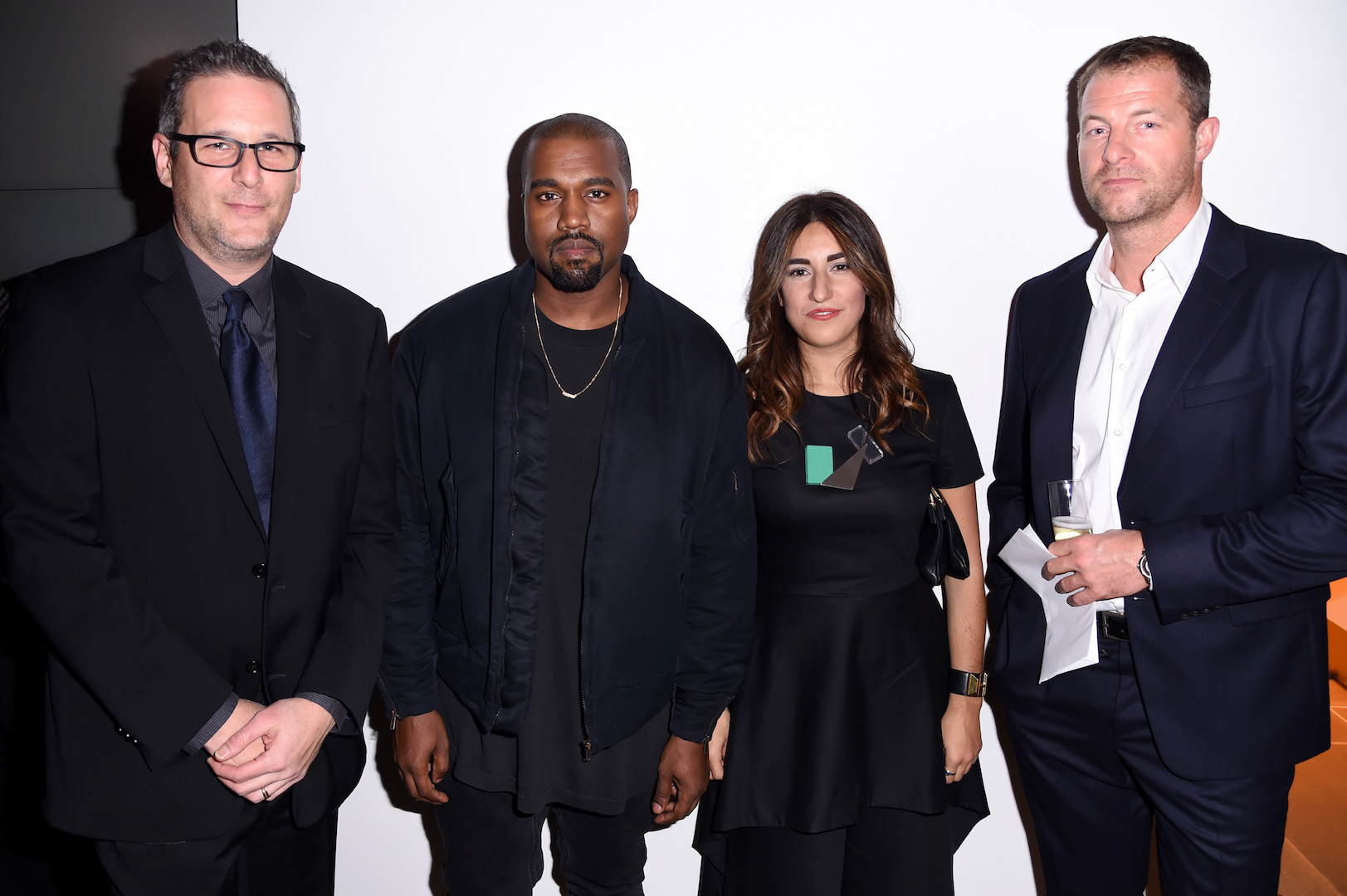 Mandatory Credit: Photo by Stephen Lovekin/Variety/REX Shutterstock (5470209bs) Jon Wexler, Kanye West, Rachel Muscat, and Arthur Hoeld Footwear News Achievement Awards, Arrivals, New York, America - 02 Dec 2015