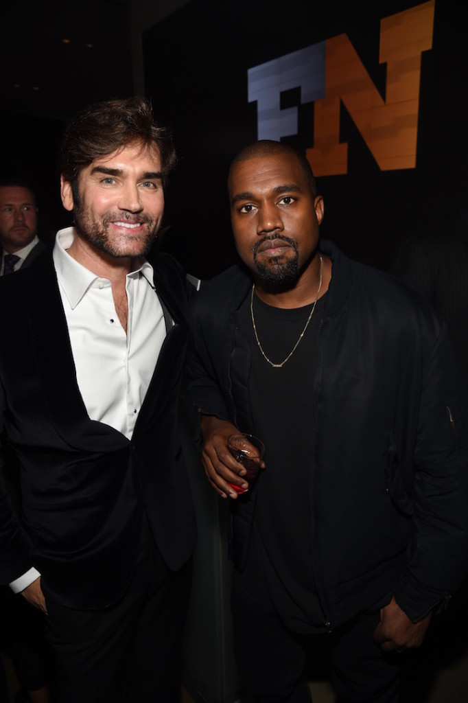 Mandatory Credit: Photo by Stephen Eichner/WWD/REX Shutterstock (5470211k) Michael Atmore and Kanye West Footwear News Achievement Awards, Inside, New York, America - 02 Dec 2015
