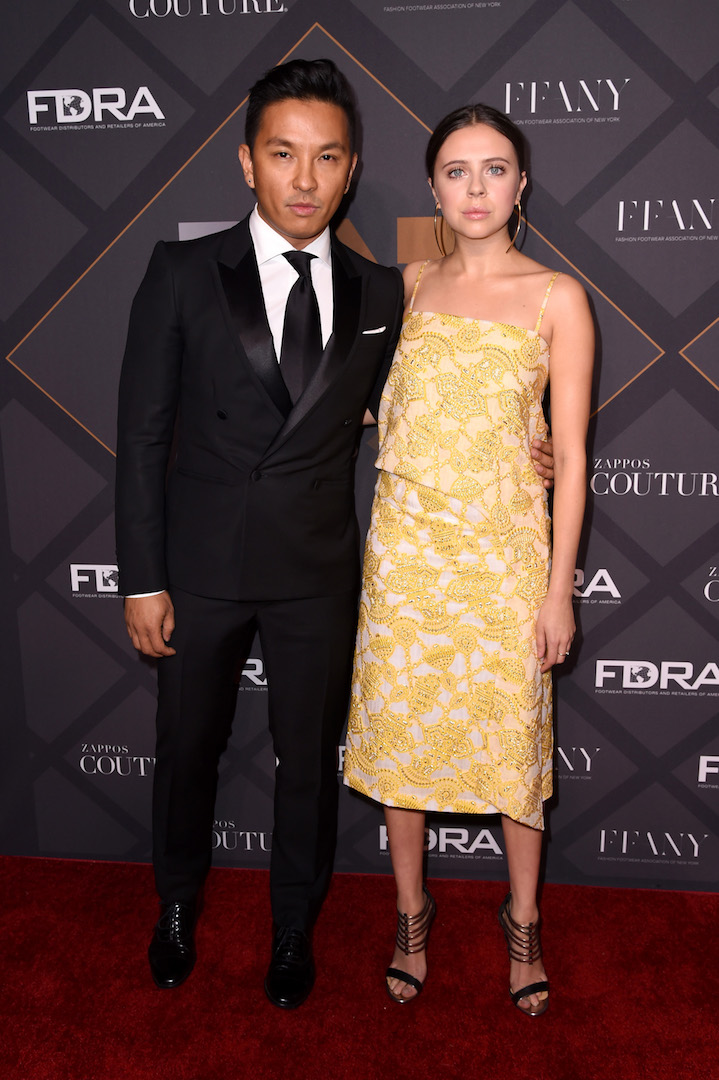 Mandatory Credit: Photo by Stephen Lovekin/Variety/REX Shutterstock (5470209o) Prabal Gurung and Bel Powley Footwear News Achievement Awards, Arrivals, New York, America - 02 Dec 2015