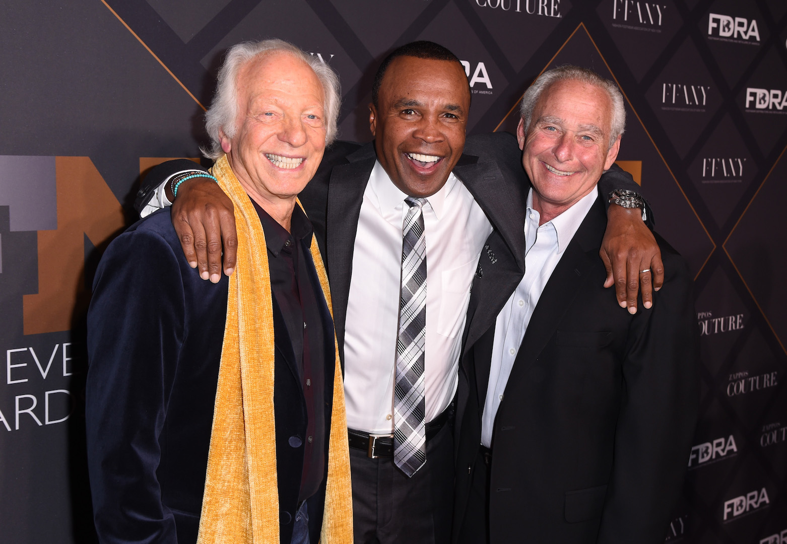Mandatory Credit: Photo by Stephen Lovekin/Variety/REX Shutterstock (5470209ae) Robert Greenberg, Sugar Ray Leonard, and David Weinberg Footwear News Achievement Awards, Arrivals, New York, America - 02 Dec 2015