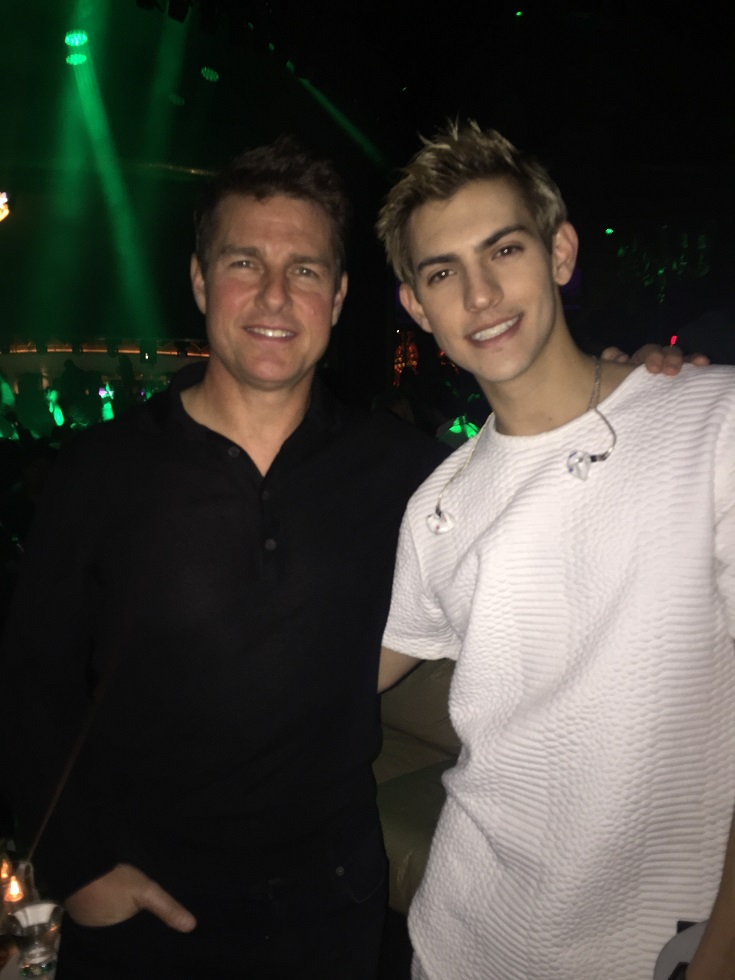 Tom Cruise and Nick Hissom at XS Nightclubs at Wynn Las Vegas.