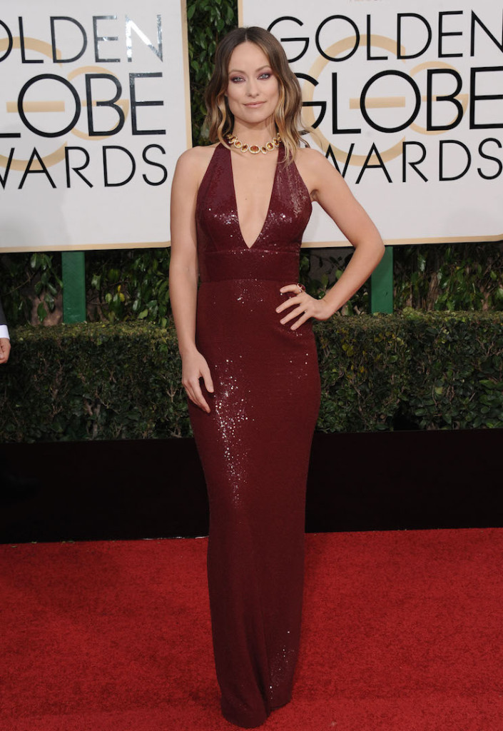 Jan. 10, 2016 - Hollywood, California, U.S. - Olivia Wilde attending The 73rd Annual Golden Awards - Arrivals held at the Beverly Hilton Hotel in Beverly Hills, California on January 10, 2016 . 2015 (Credit Image: � Dave Longendyke/Globe Photos via ZUMA Wire)