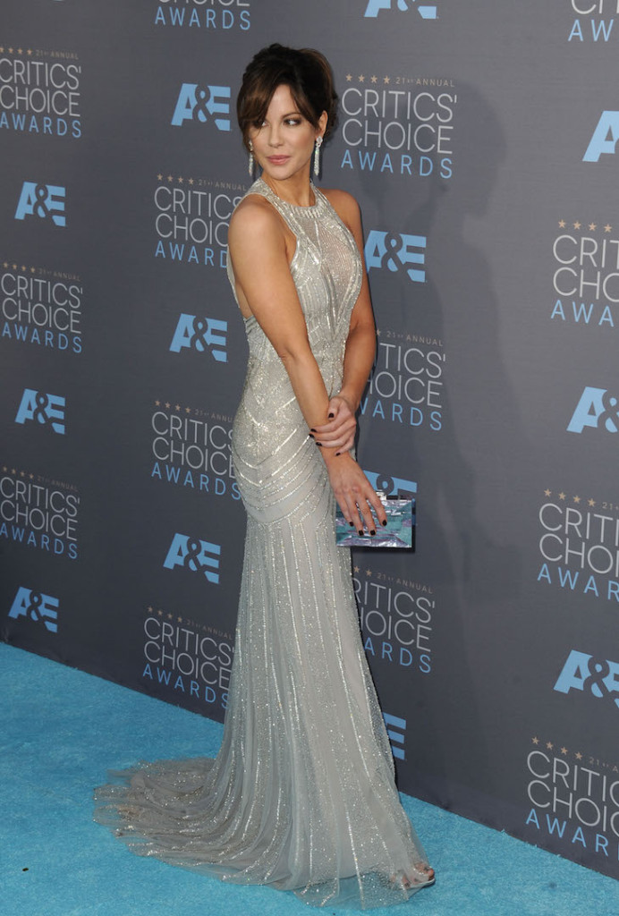 Jan. 17, 2016 - Hollywood, California, U.S. - Kate Beckinsale attending The 21st Annual Critics' Choice Awards - Arrivals held at Barker Hanger in Santa Monica, California on January 17, 2016. 2016 (Credit Image: � Dave Longendyke/Globe Photos via ZUMA Wire)