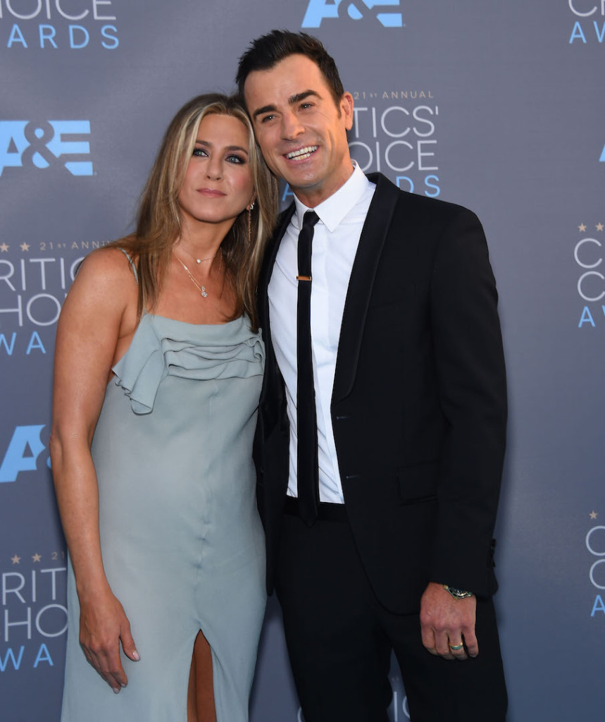 Jan. 17, 2016 - Santa Monica, California, U.S. - Jennifer Aniston & Justin Theroux arrives for the 2016 Critics' Choice Awards at Barker Hanger. (Credit Image: © Lisa O'Connor via ZUMA Wire)
