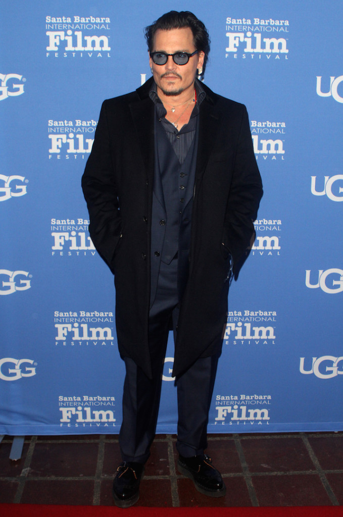 Actor Johnny Depp attends the Maltin Modern Master award tribute during the 31st Santa Barbara International Film Festival at the Arlington Theater on February 4, 2016 in Santa Barbara, California. (Photo by Matthew Simmons/Getty Images for Santa Barbara International Film Festival)