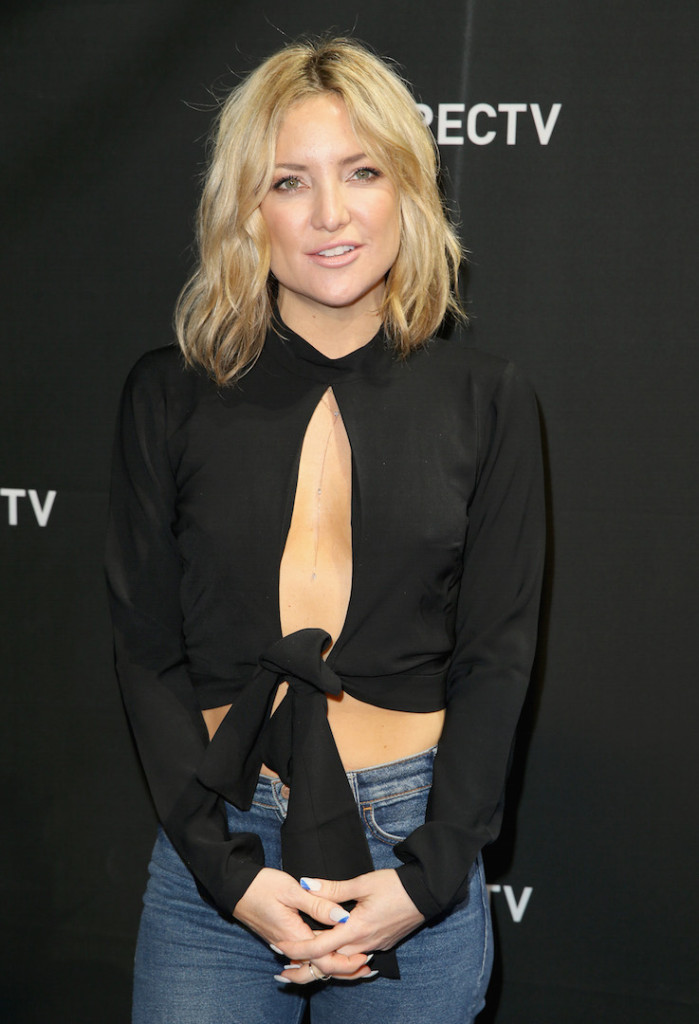SAN FRANCISCO, CA - FEBRUARY 06: Actress Kate Hudson attends DirecTV Super Saturday Night Co-hosted by Mark Cuban's AXS TV at Pier 70 on February 6, 2016 in San Francisco, California. (Photo by Joe Scarnici/Getty Images for DirecTV)
