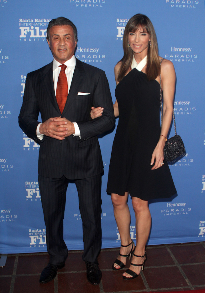 SANTA BARBARA, CA - FEBRUARY 09: Actor Sylvester Stallone and model Jennifer Flavin attend the Montecito Award at the Arlington Theater at the 31st Santa Barbara International Film Festival on February 9, 2016 in Santa Barbara, California. (Photo by Matthew Simmons/Getty Images for Santa Barbara International Film Festival)