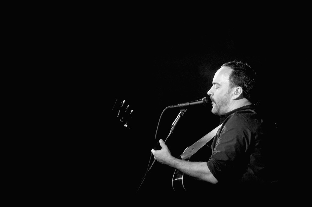 SAN FRANCISCO, CA - FEBRUARY 04: (EDITORS NOTE: Image has been converted to black and white.) Recording artist Dave Matthews of Dave Matthews Band performs onstage during the DirecTV and Pepsi Super Thursday Night featuring Dave Matthews Band at Pier 70 on February 4, 2016 in San Francisco, California. (Photo by Mike Coppola/Getty Images for DirecTV)