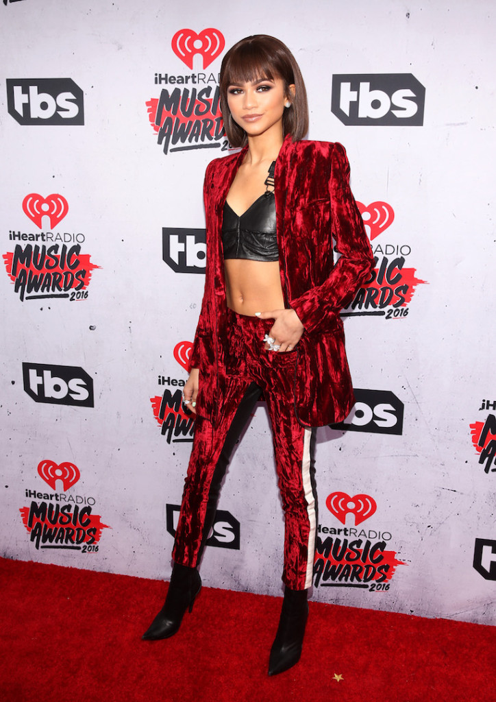 Singer/actress Zendaya attends the iHeartRadio Music Awards at The Forum on April 3, 2016 in Inglewood, California. (Photo by Jesse Grant/Getty Images for iHeartRadio / Turner)