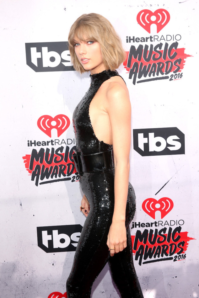 Singer Taylor Swift attends the iHeartRadio Music Awards at The Forum on April 3, 2016 in Inglewood, California. (Photo by Jesse Grant/Getty Images for iHeartRadio / Turner)