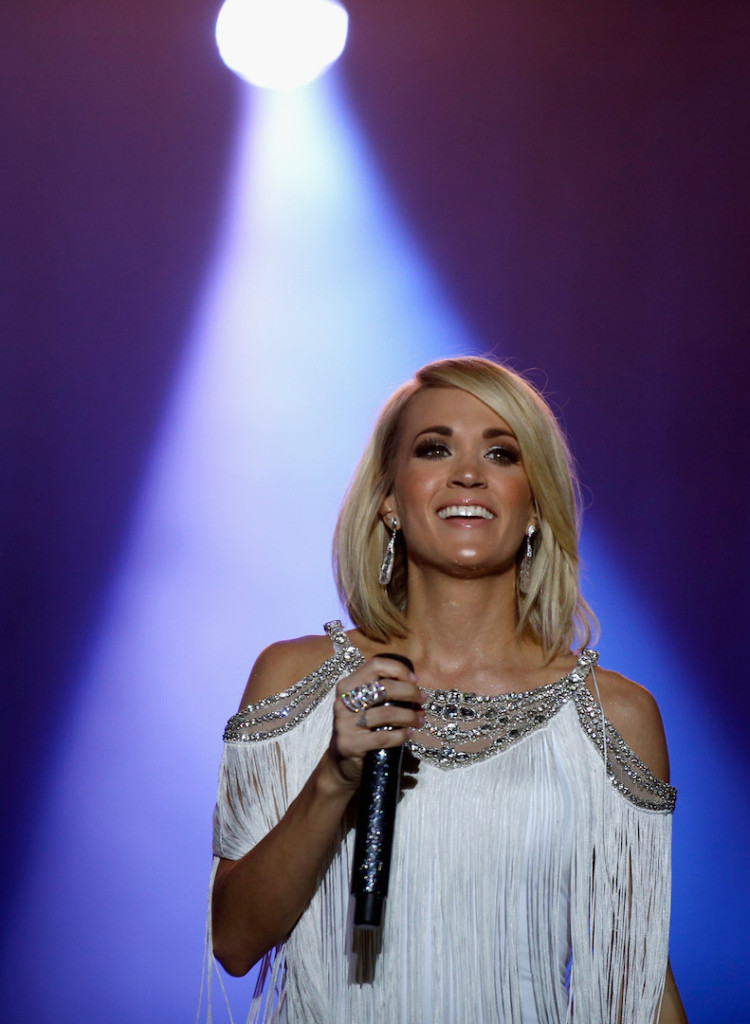 Singer Carrie Underwood performs onstage at the 4th ACM Party for a Cause Festival at the Las Vegas Festival Grounds on April 1, 2016 in Las Vegas, Nevada. (Photo by Isaac Brekken/Getty Images for ACM)
